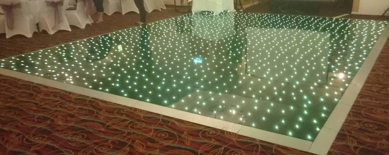 Green led dance floor