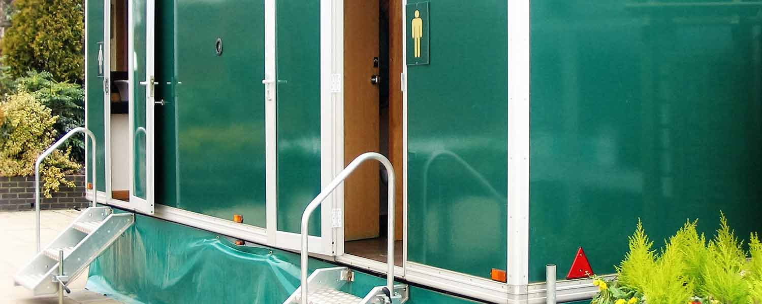 Any occasion mobile luxury toilets outside view